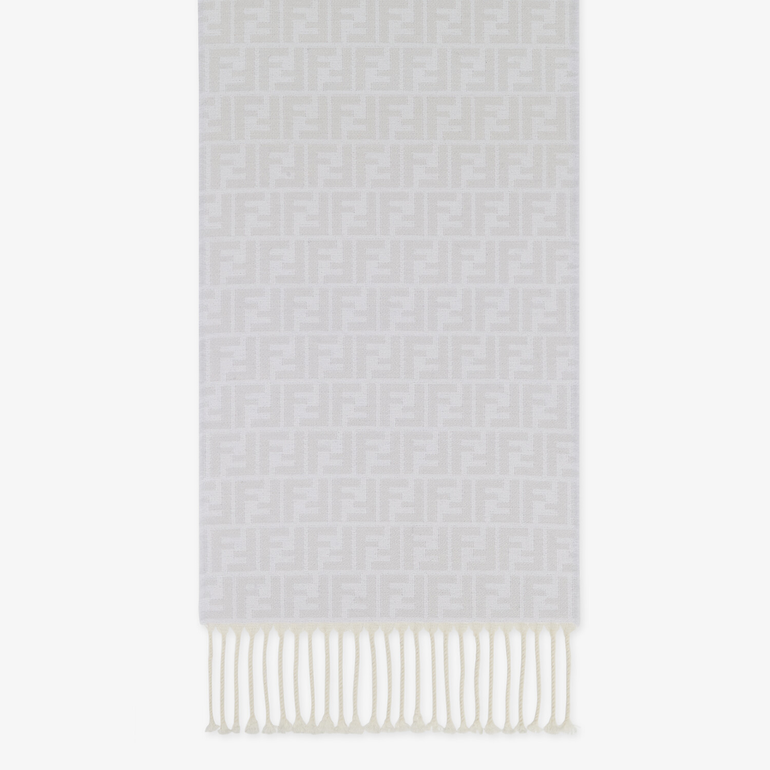 FENDI SCARF - Gray cashmere and wool scarf - view 1 detail