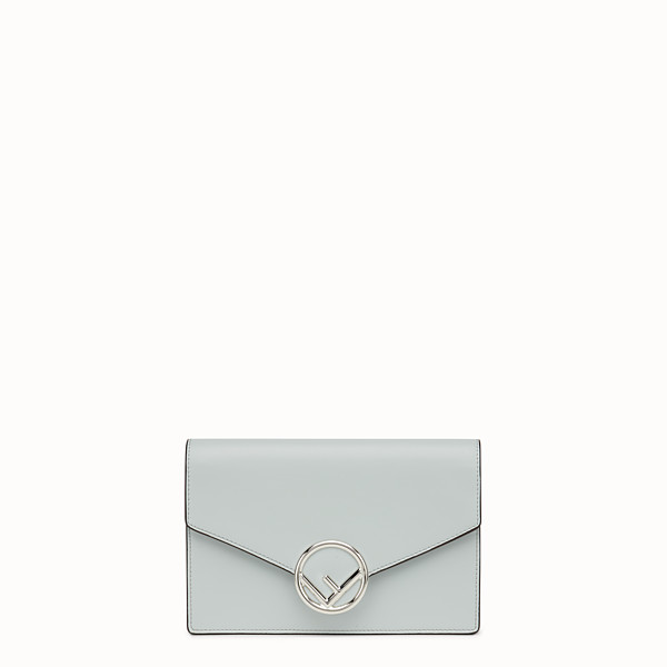 FENDI WALLET ON CHAIN - Grey leather minibag - view 1 small thumbnail