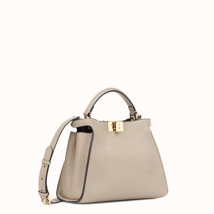 FENDI PEEKABOO ESSENTIALLY - Beige leather bag - view 2 detail