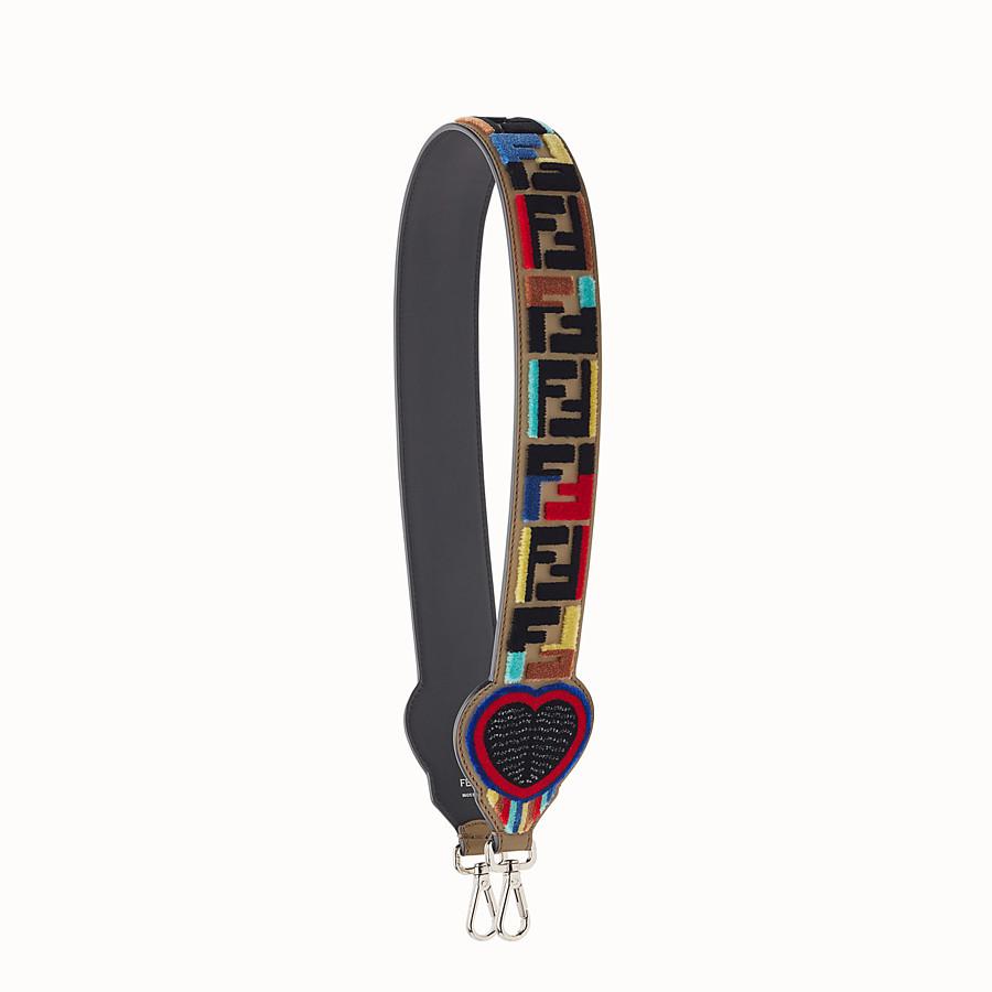 FENDI STRAP YOU - 皮革與布料肩帶 - view 1 detail