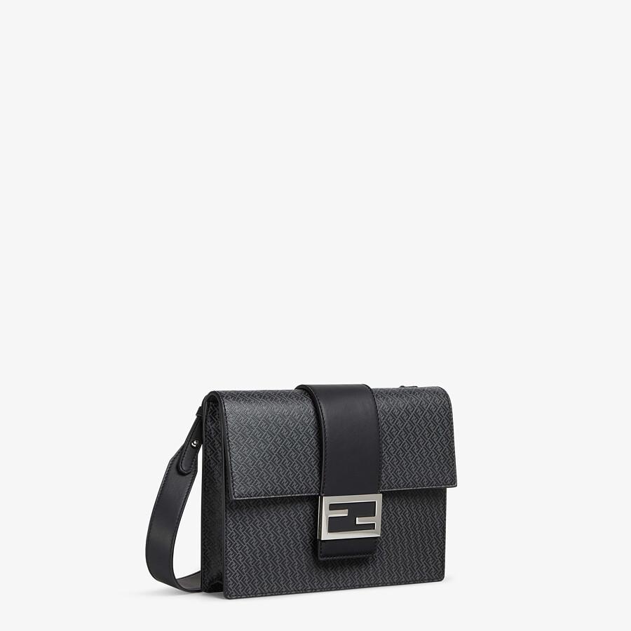 FENDI FLAT BAGUETTE - Dark gray leather bag - view 2 detail