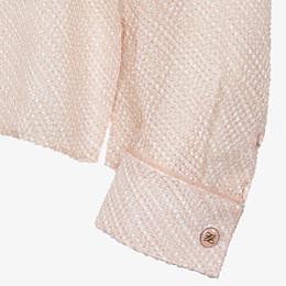 FENDI SHIRT - Pink silk cloqué blouse - view 3 thumbnail