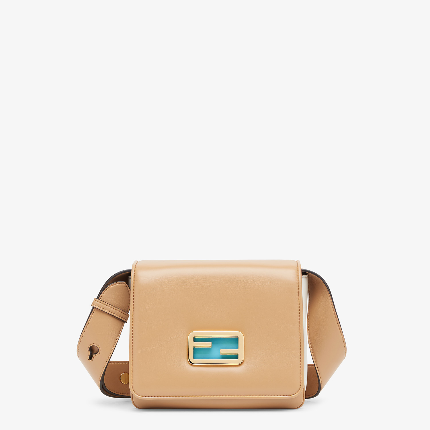 FENDI FENDI ID SMALL - Beige leather bag - view 1 detail