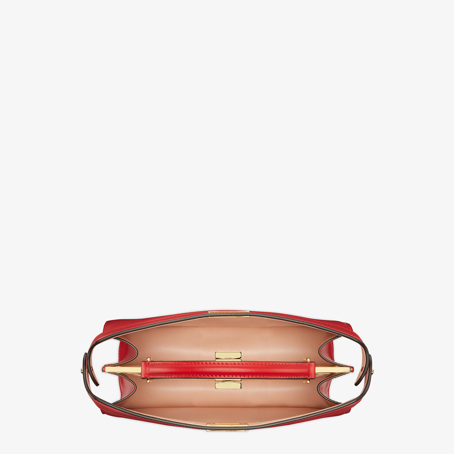 FENDI PEEKABOO ISEEU EAST-WEST - Red leather bag - view 5 detail