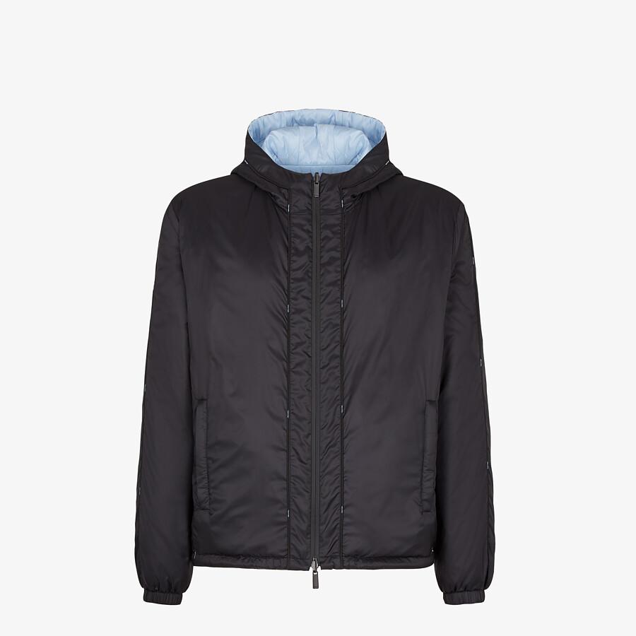FENDI WINDBREAKER - Light blue nylon jacket - view 1 detail