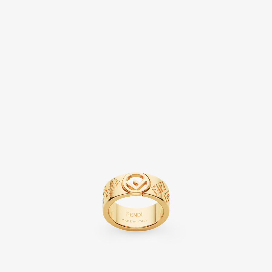 FENDI FF RING - Gold-colour ring - view 1 detail
