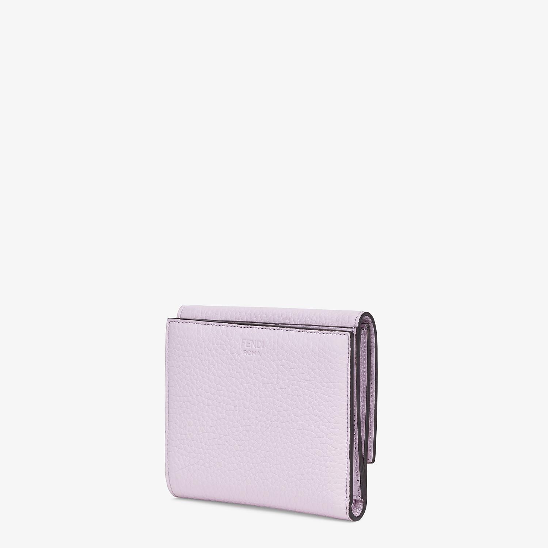 FENDI マイクロ 三つ折り財布 - ライラックレザー 財布 - view 2 detail