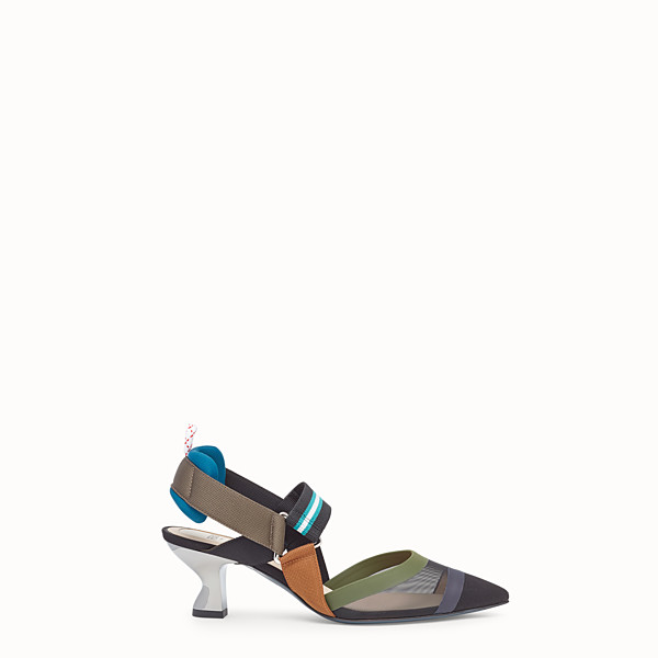 FENDI PUMPS - Multicolor tech mesh slingbacks - view 1 small thumbnail