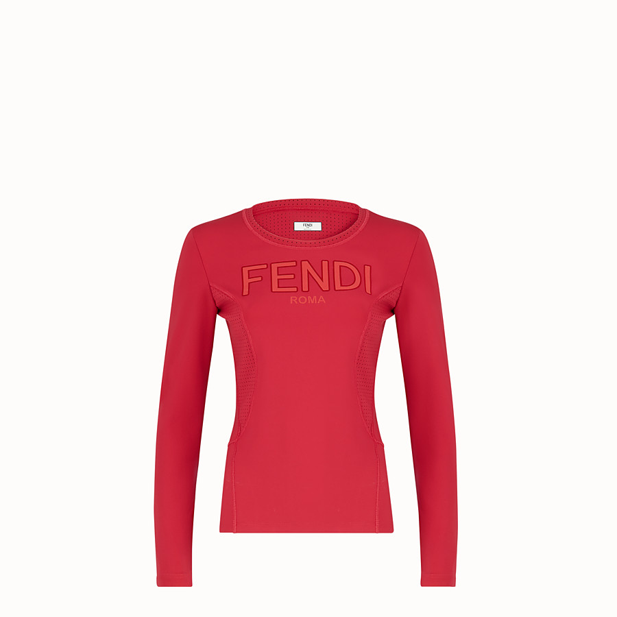 FENDI JUMPER - Red tech fabric top - view 1 detail