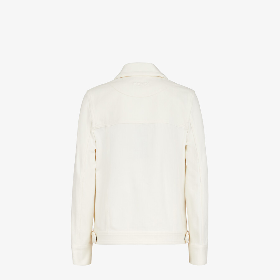 FENDI JACKET - White denim jacket - view 2 detail