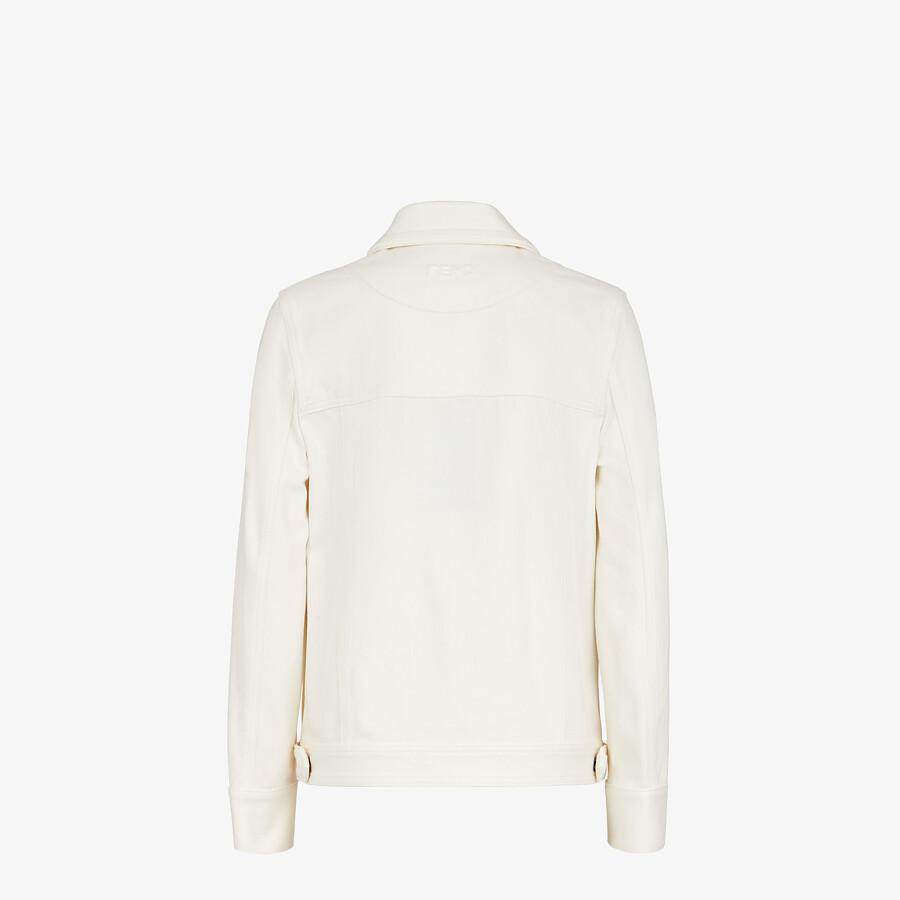 FENDI JACKET - White denim jacket - view 2 detail