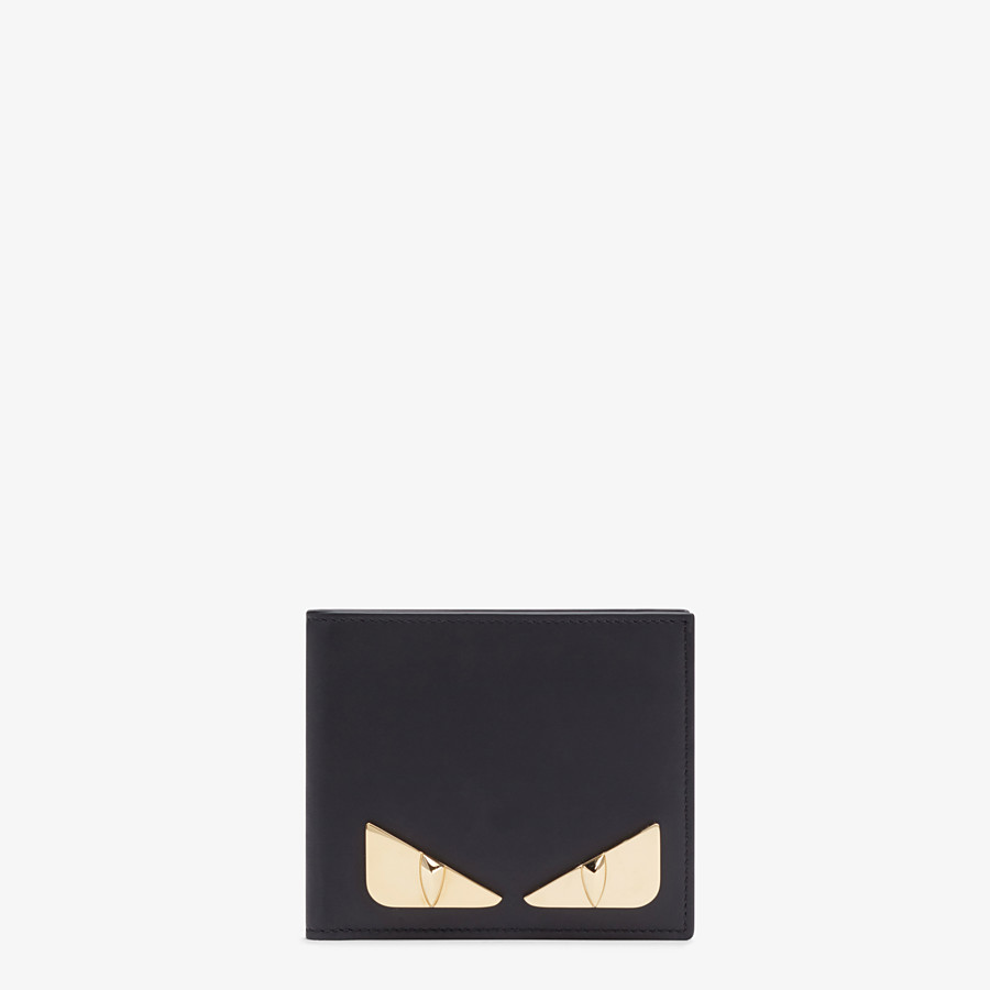 FENDI BI-FOLD WALLET - Black leather bi-fold wallet - view 1 detail