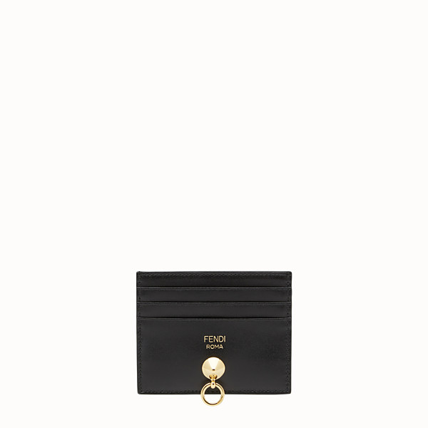 FENDI CARD HOLDER - Black leather card holder with six slots - view 1 small thumbnail
