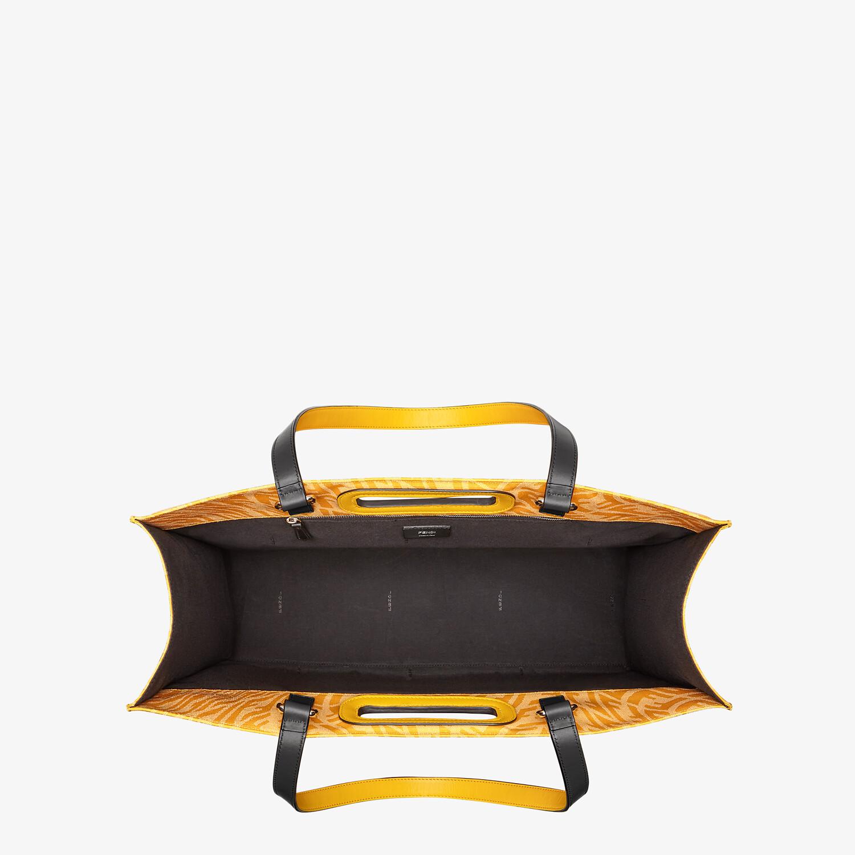 FENDI SHOPPING BAG - Yellow FF Vertigo jacquard shopper - view 5 detail