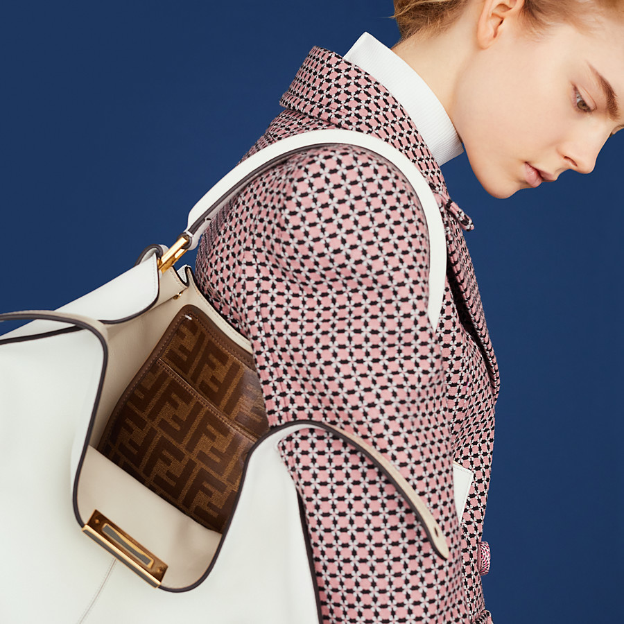 FENDI PEEKABOO X-LITE - White leather bag - view 6 detail