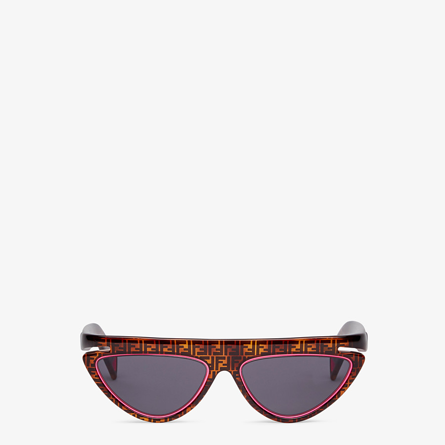 FENDI FFLUO - Brown sunglasses - view 1 detail