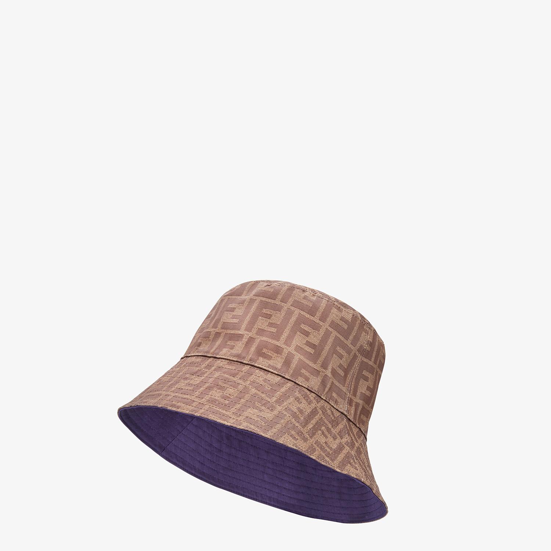 FENDI HAT - Brown fabric hat - view 1 detail