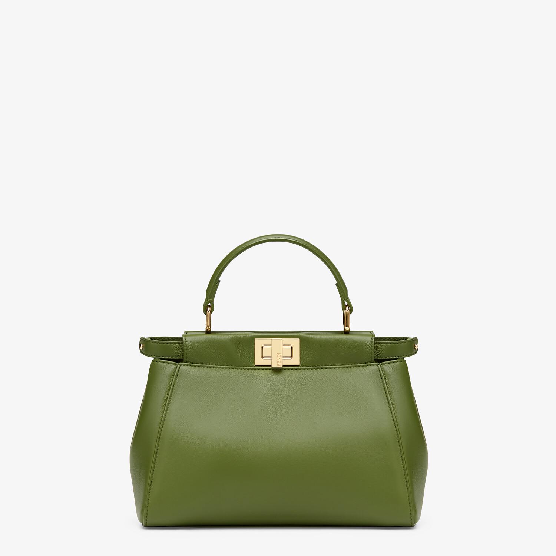 FENDI PEEKABOO MINI - Green nappa leather bag - view 1 detail