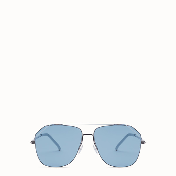 FENDI FENDIFIEND - Ruthenium and pale blue sunglasses - view 1 small thumbnail