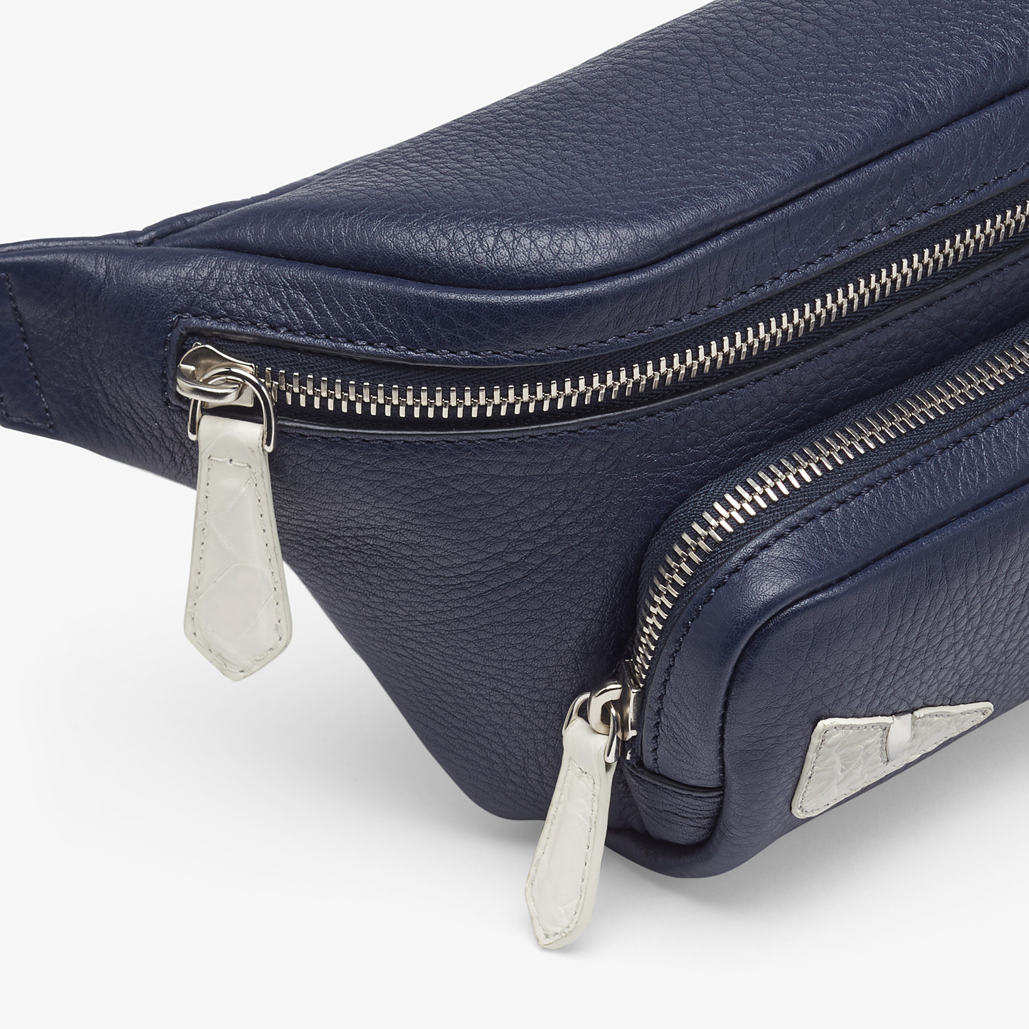 FENDI BELT BAG - Blue leather belt bag - view 5 detail