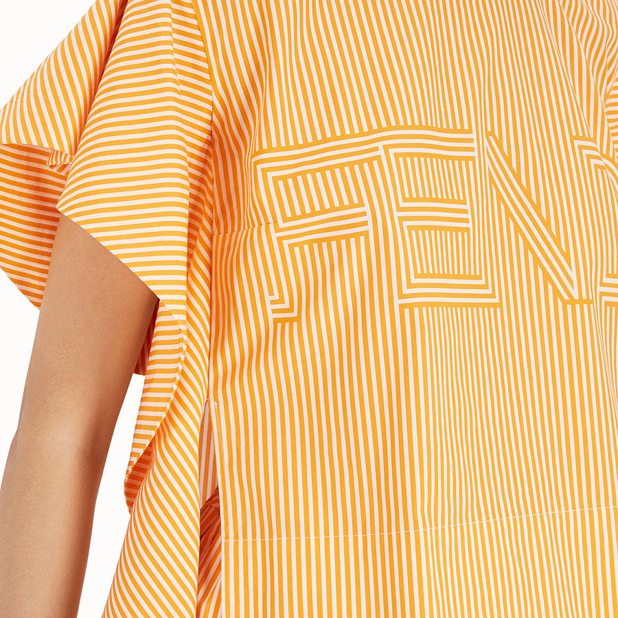 FENDI TOP - Orange cotton top - view 4 detail