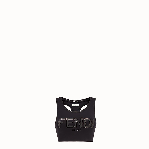 FENDI TOP - Black tech fabric top - view 1 small thumbnail
