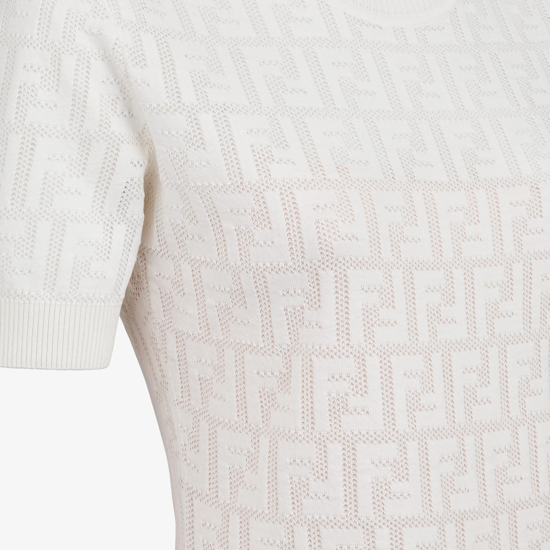 FENDI DRESS - White cotton dress - view 3 detail