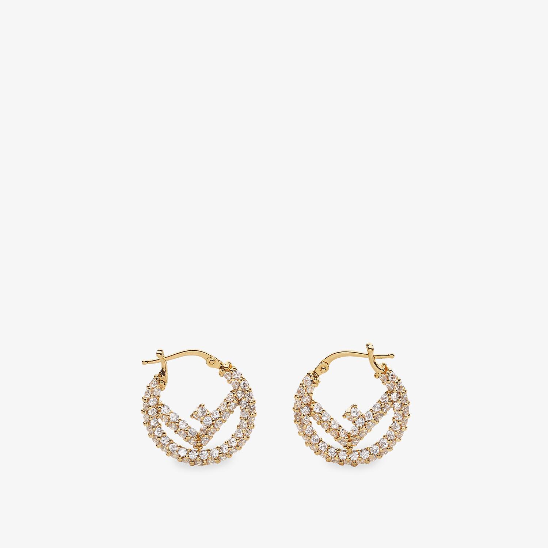 FENDI F IS FENDI EARRINGS - Gold-colored earrings - view 1 detail