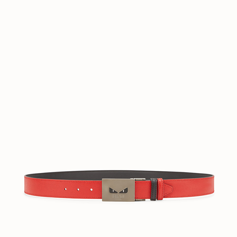 FENDI BELT - Black and red reversible belt - view 1 detail