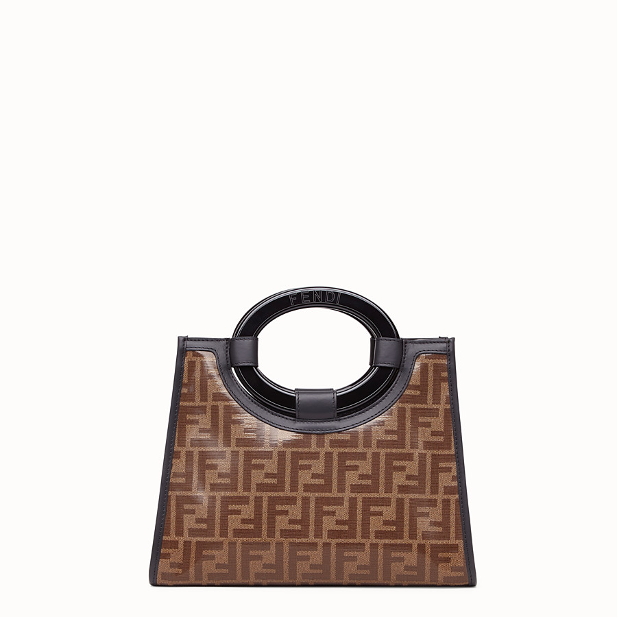 FENDI RUNAWAY SHOPPER - Shopper in brown fabric - view 4 detail