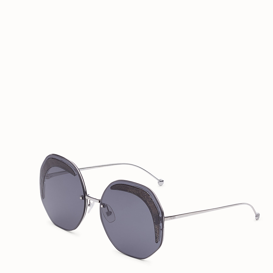 FENDI FENDI GLASS - Ruthenium-coloured sunglasses - view 2 detail
