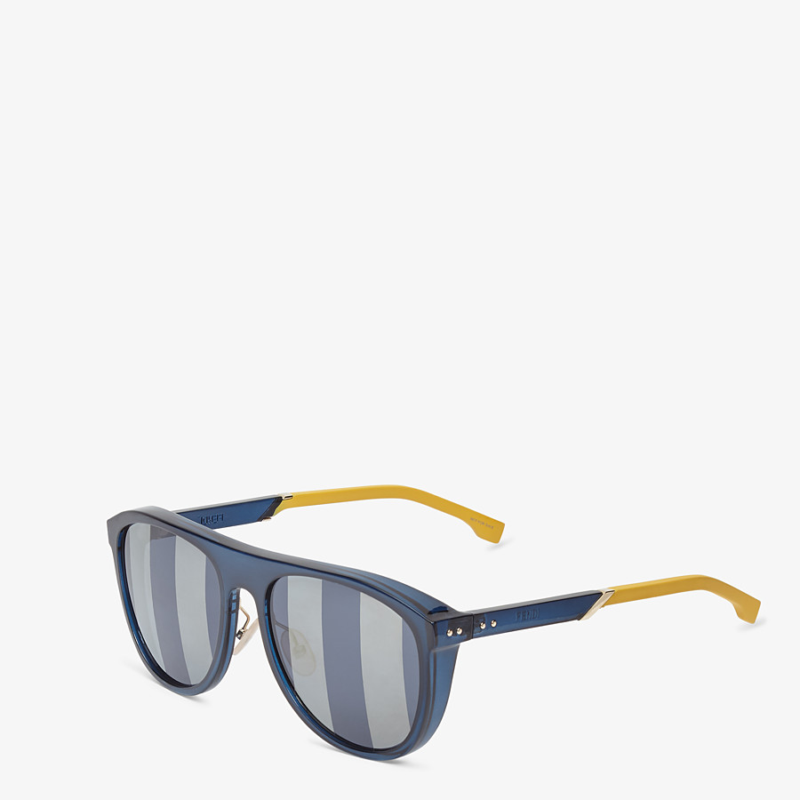 FENDI BOTANICAL FENDI - Blue sunglasses - view 2 detail