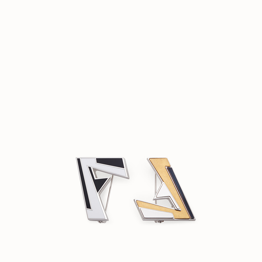 FENDI BROOCH - Set of palladium pins - view 1 detail