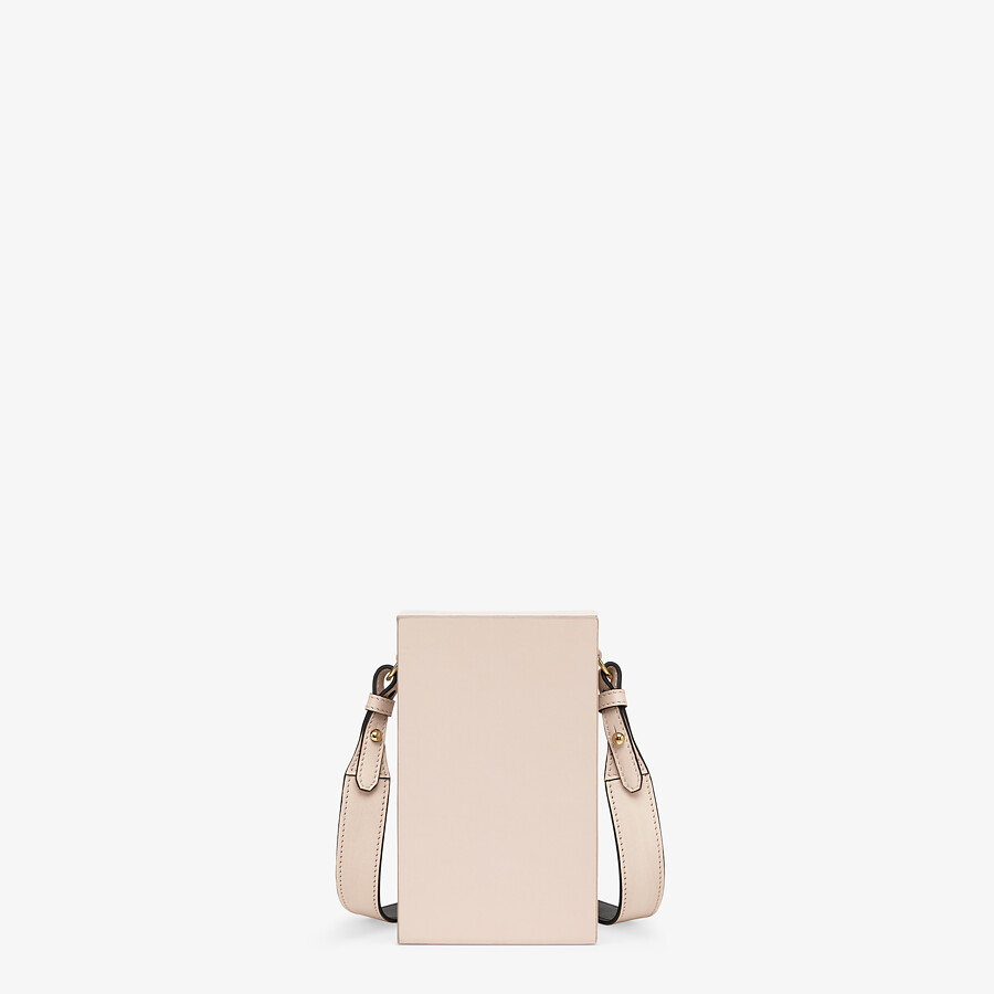 FENDI VERTICAL BOX - Tasche aus Leder in Rosa - view 4 detail