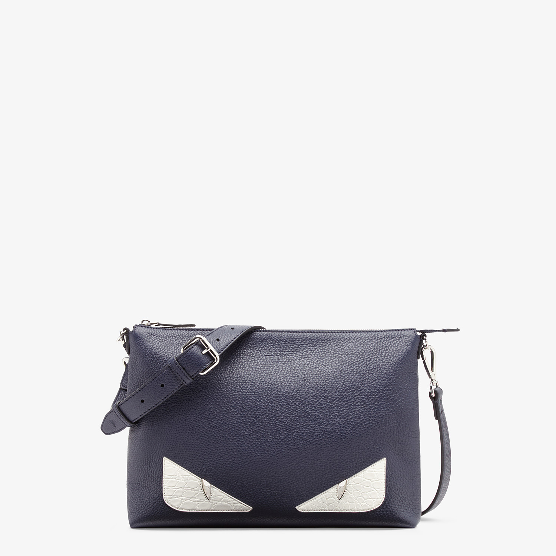 FENDI MESSENGER - Blue leather bag - view 1 detail