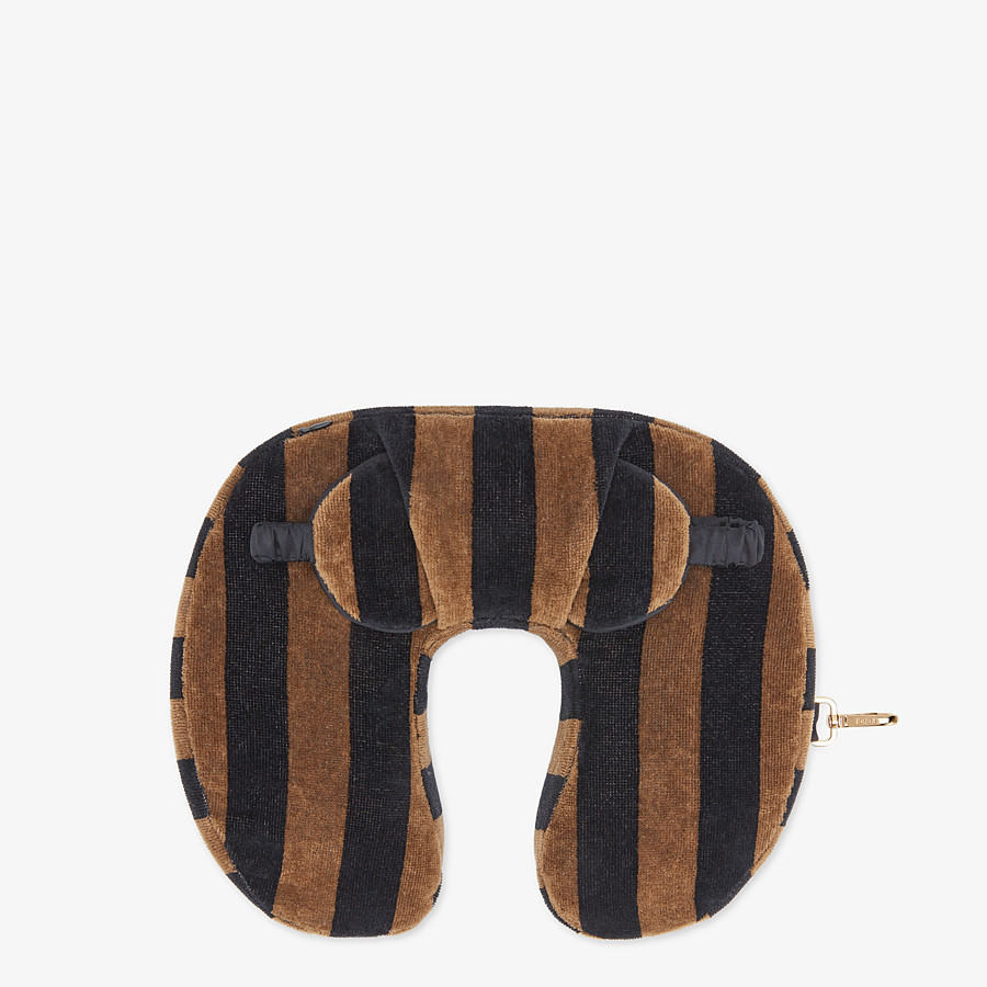 FENDI TRAVEL SET - Brown terry cushion and mask - view 2 detail