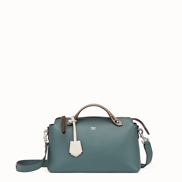 FENDI BY THE WAY REGULAR - Small green leather Boston bag - view 1 small thumbnail
