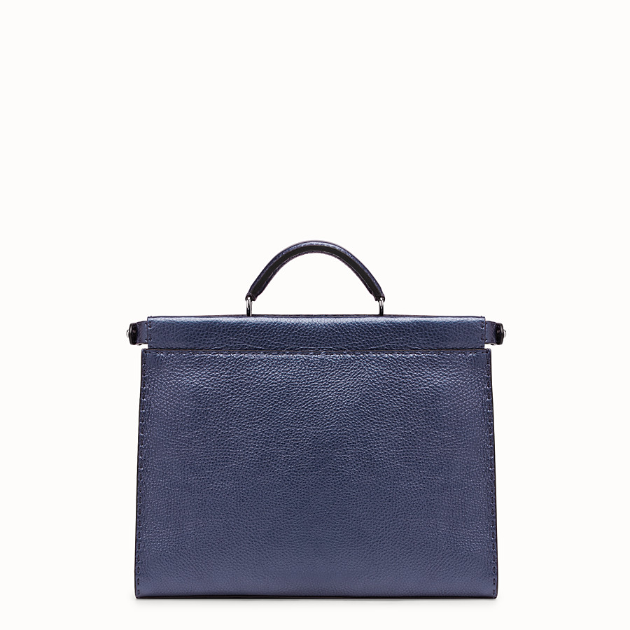FENDI PEEKABOO ICONIC FIT - Blue leather bag - view 3 detail