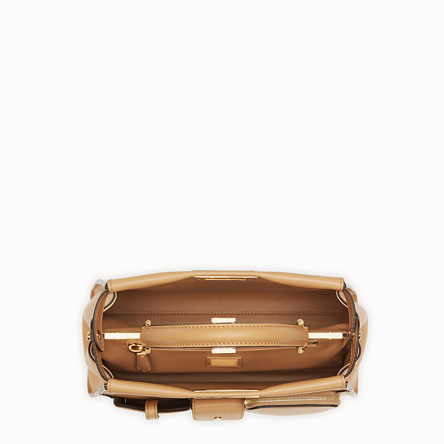 FENDI PEEKABOO REGULAR POCKET - Beige leather bag - view 4 detail