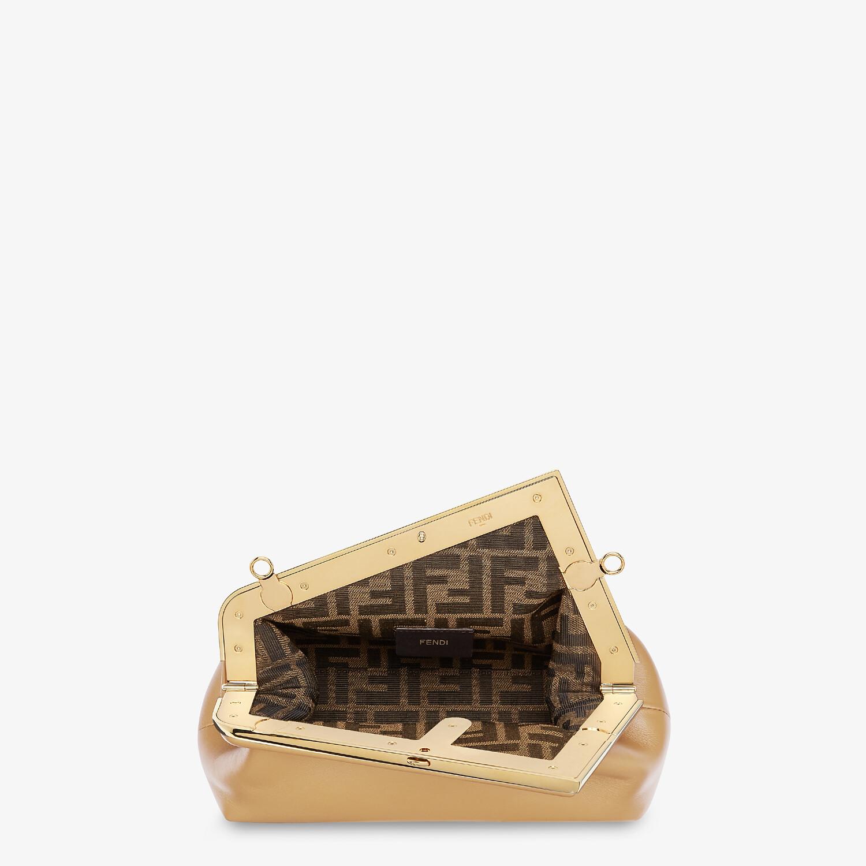 FENDI FENDI FIRST SMALL - Beige leather bag - view 4 detail