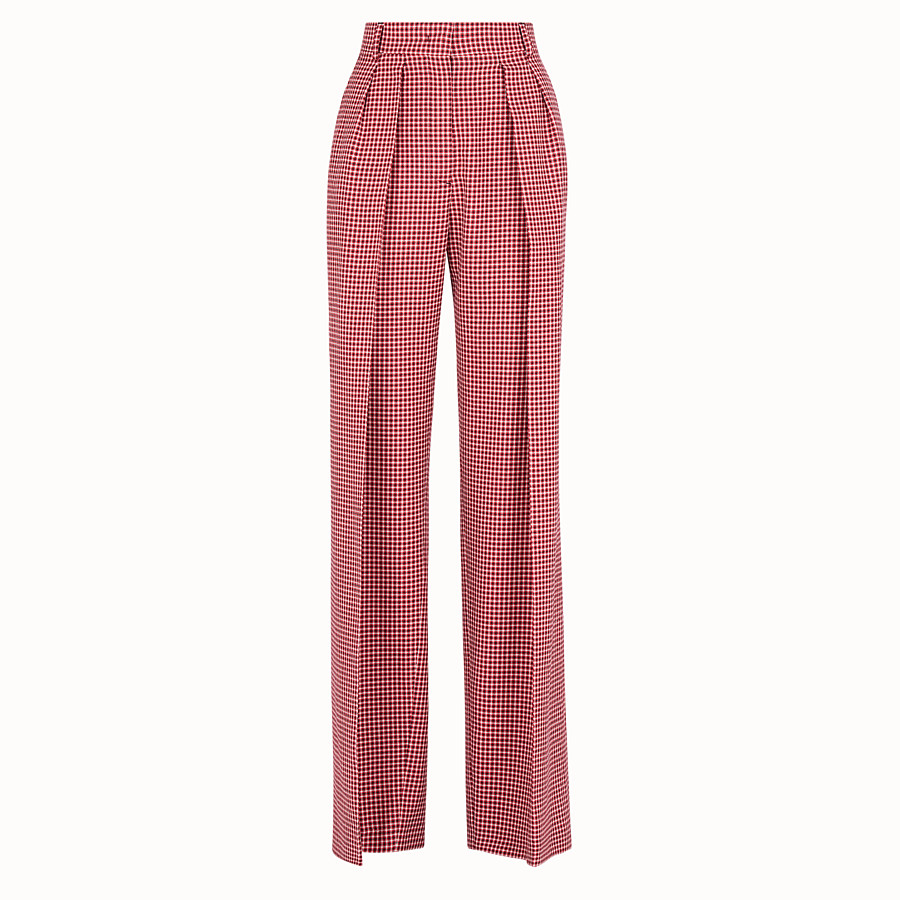 FENDI TROUSERS - Multicolour wool trousers - view 1 detail