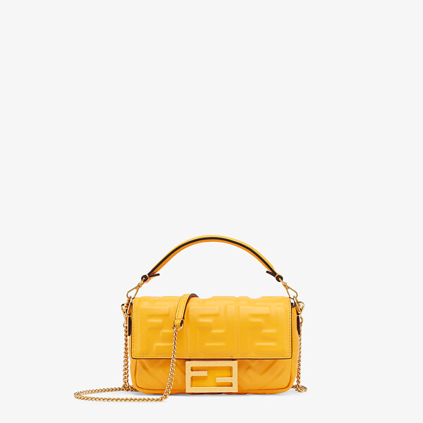Orange nappa leather bag featuring the FF motif