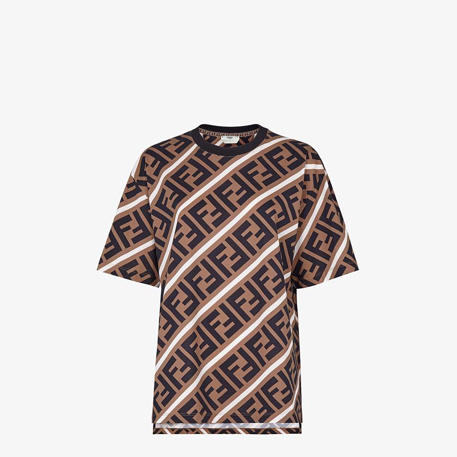 FENDI T-SHIRT - Multicolor jersey T-shirt - view 1 detail