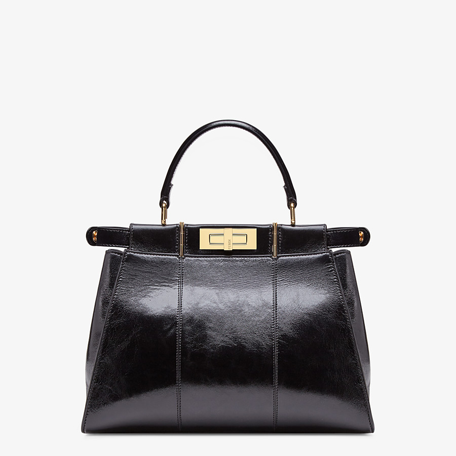 FENDI PEEKABOO ICONIC MEDIUM - Black leather bag - view 5 detail