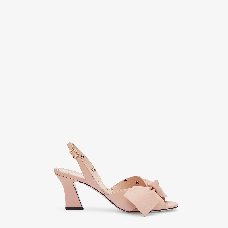 FENDI SANDALE - Sandale aus Leder in Rosa - view 1 detail