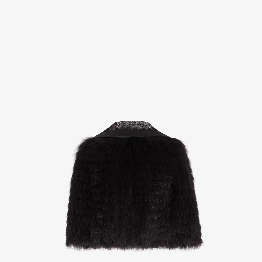 FENDI CAPE - Black fox fur cape - view 2 detail