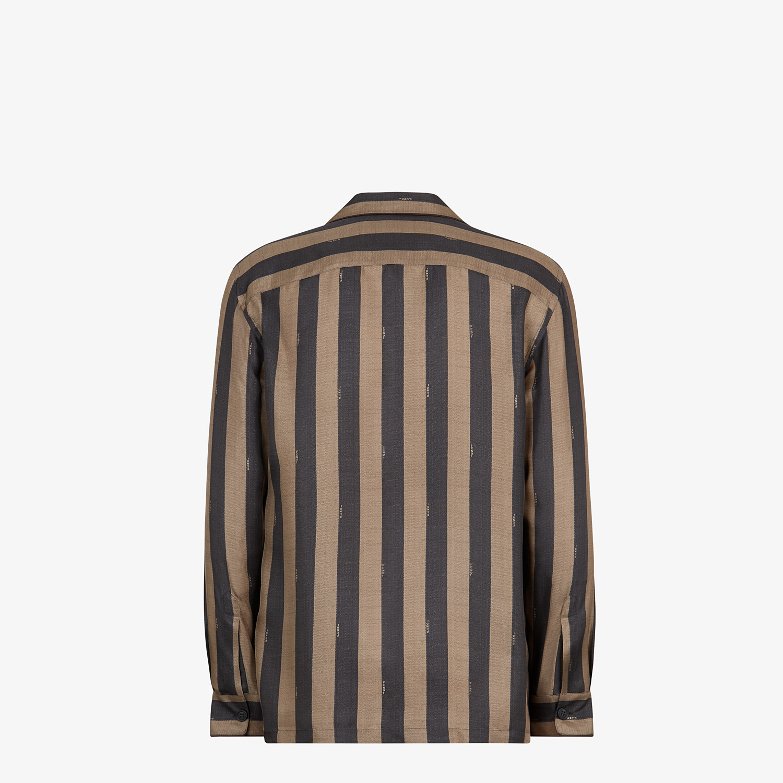 FENDI 恤衫 - 棕色真絲恤衫 - view 2 detail