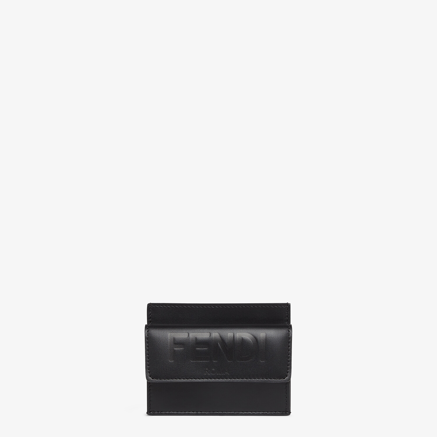 FENDI CARD HOLDER - Black leather cardholder - view 1 detail