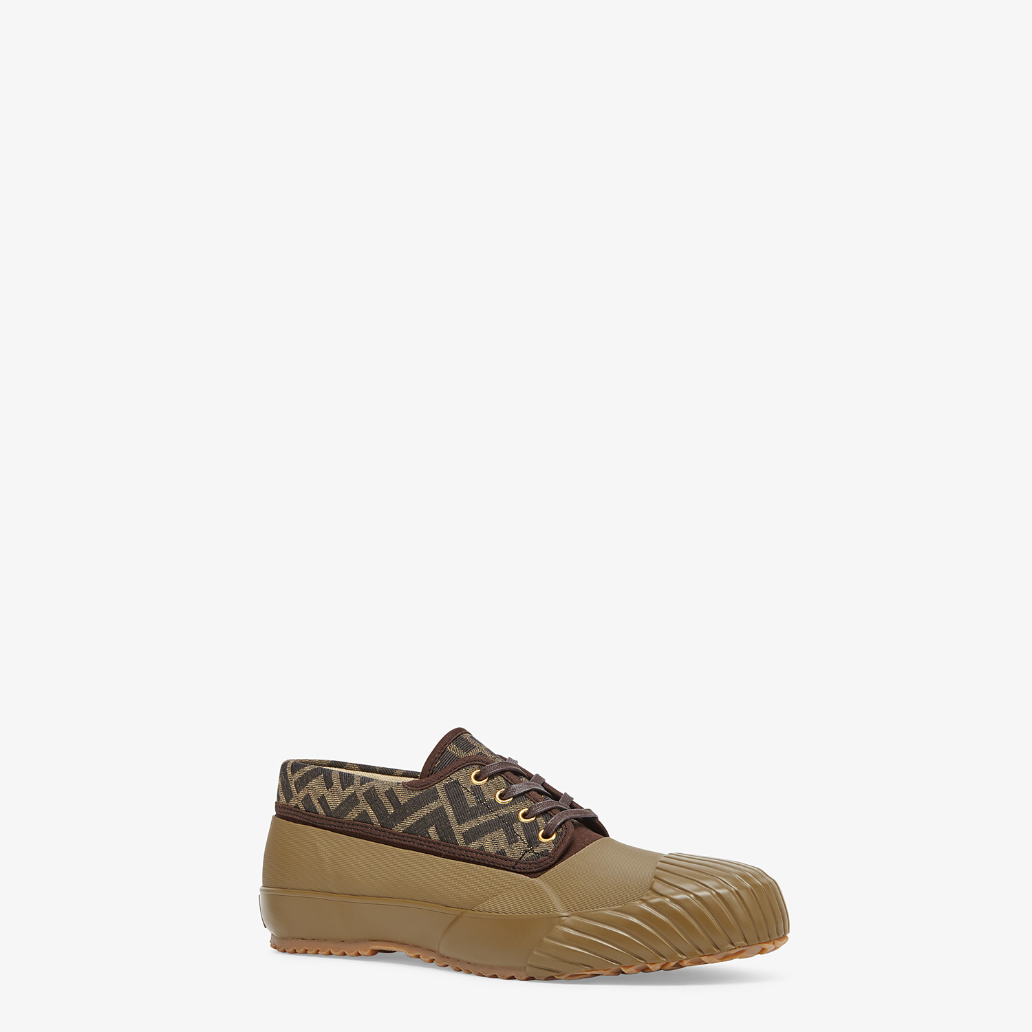 FENDI FENDI AND MOONSTAR SNEAKERS - Multicolour canvas and rubber low-tops - view 2 detail