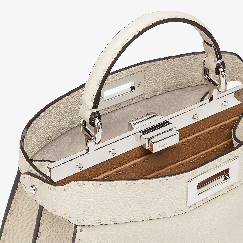 FENDI PEEKABOO I SEEU SMALL - White Selleria bag - view 5 detail